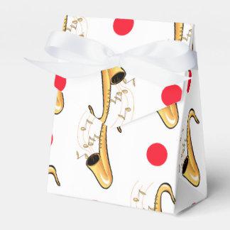 Saxophone, Red & White Polka Dots Favour Box