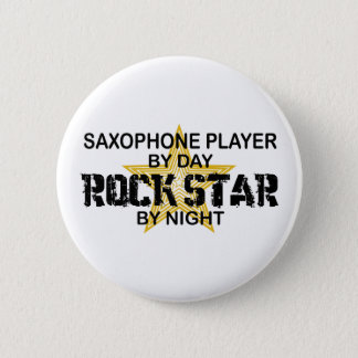 Saxophone Rock Star by Night 6 Cm Round Badge