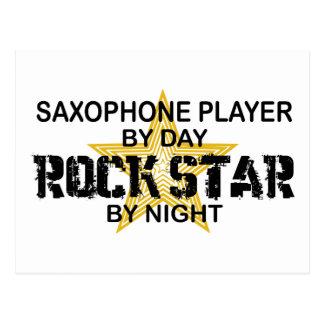 Saxophone Rock Star by Night Postcard