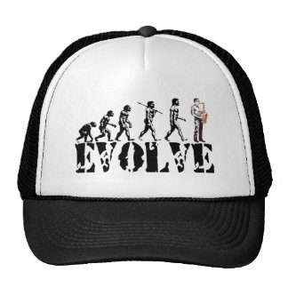 Saxophone Sax Evolution Musical Art Cap