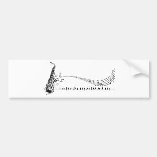 Saxophone ~ Sax Music & Blackbirds Bumper Sticker