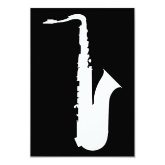 saxophone silhouette card