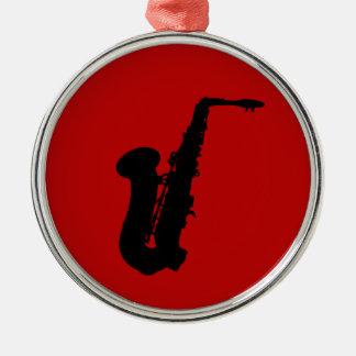 Saxophone silhouette christmas ornament