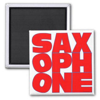 SAXOPHONE SQUARE MAGNET