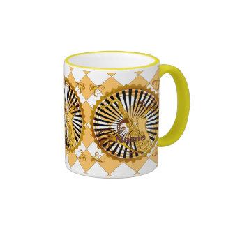 Saxophone Swirls Ringer Mug