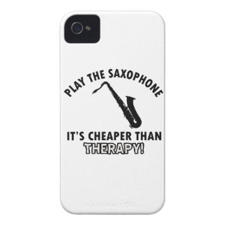 Saxophone therapy designs Case-Mate iPhone 4 cases