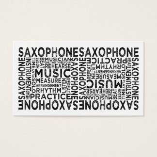 Saxophone Typography Business Card