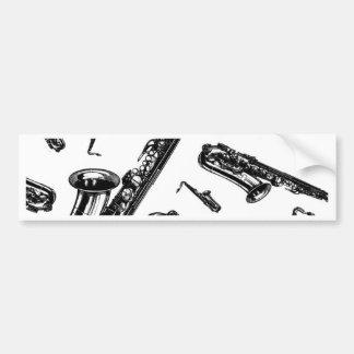 Saxophones Bumper Sticker