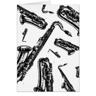 Saxophones Card