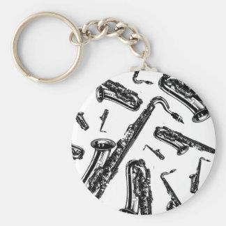 Saxophones Key Ring