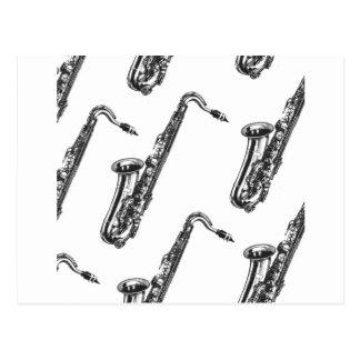 Saxophones Postcard
