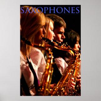 Saxophones Poster