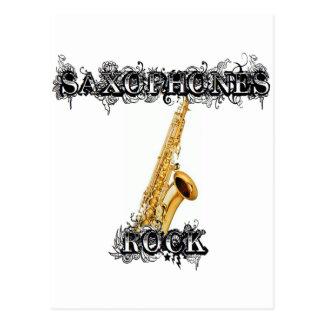 Saxophones Rock Postcard