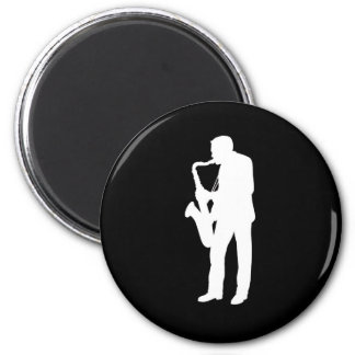 """Saxophonist"" design gifts and products Refrigerator Magnet"