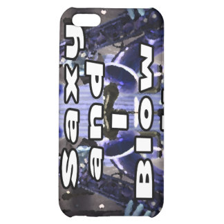 saxy and I blow it middle blue double solid player Case For iPhone 5C