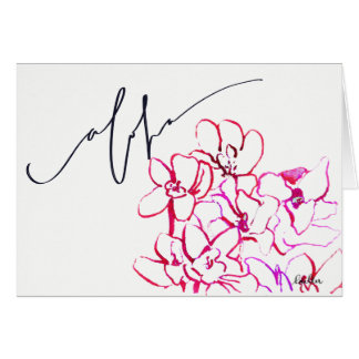 """Say """"Aloha"""" w/ the Tropical Orchid Blank Note Card"""