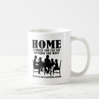 Say Anything At Home Funny Mug