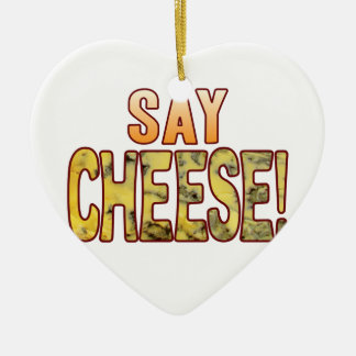 Say Blue Cheese Ceramic Heart Decoration