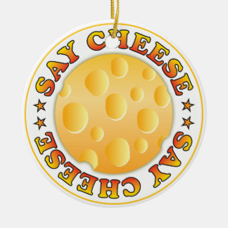 Say Cheese Christmas Ornament