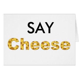 say cheese greeting card