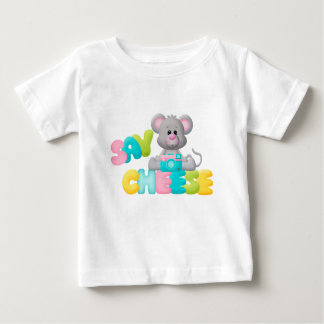 Say Cheese Mouse Gift For Kids Baby T-Shirt
