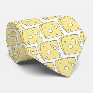Say Cheese Yellow Holey Swiss Cheese Wedge Foodie Tie
