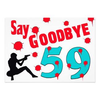 Say Goodbye To 59 A 60th Birthday Celebration Invitation