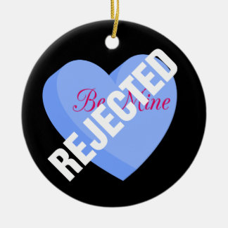 Say Happy Valentines with Rejection & Breakup Double-Sided Ceramic Round Christmas Ornament