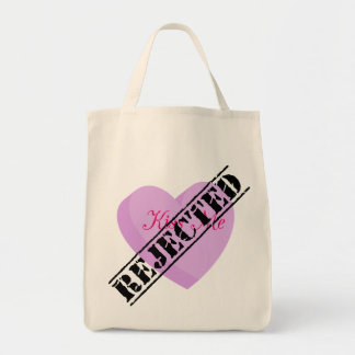 Say Happy Valentines with Rejection & Breakup Grocery Tote Bag
