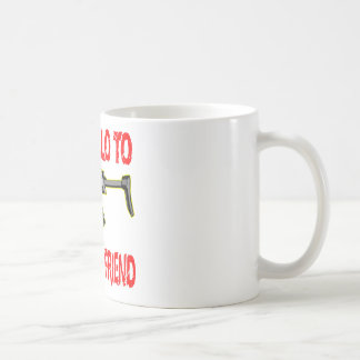 Say Hello To My Little Friend Basic White Mug