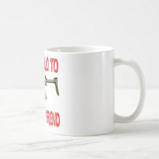 Say Hello To My Little Friend Basic White Mug