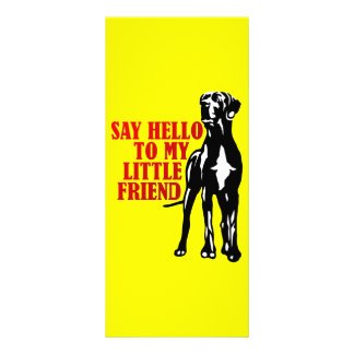 say hello to my little friend personalized rack card