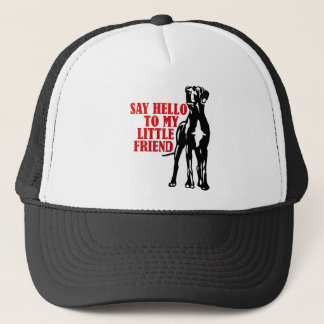 say hello to my little friend trucker hat