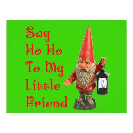 Say Ho Ho To My Little Friend Santa Christmas Flyer