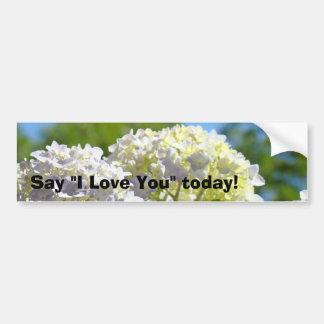 Say I Love You today! bumper stickers Hydrangeas