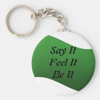 Say It, Feel It, Be It, Keychain