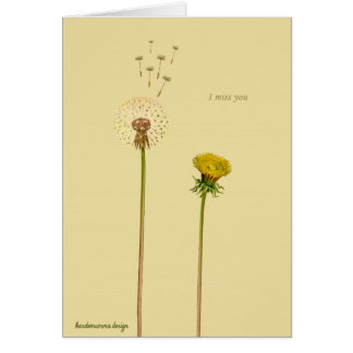 Say it with flowers: I miss you Card