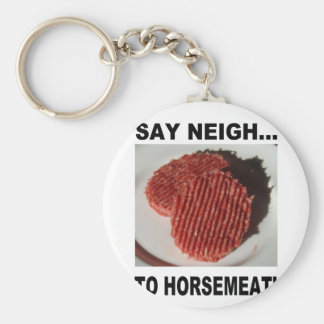 Say neigh to horse meatus basic round button key ring