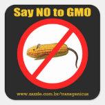 """Say NO GMO Stiker 3""""x3"""" Square Sticker"""