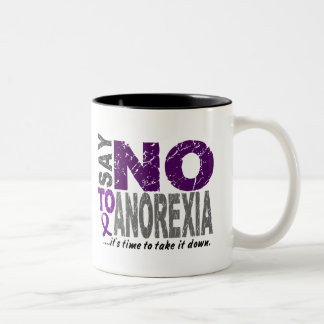 Say NO To Anorexia 1 Two-Tone Coffee Mug