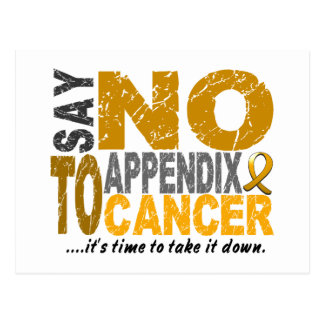 Say NO To Appendix Cancer 1 Postcard