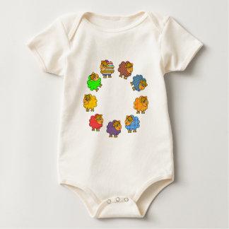 Say NO to Boring Sheep Garland of Colorful Sheep Baby Bodysuit