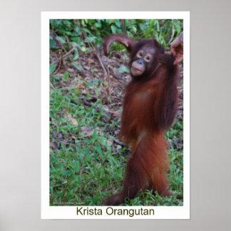 Say No to Bullies - Krista Orangutan Poster