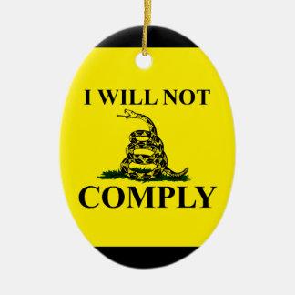 Say NO to Communism! Ceramic Oval Decoration