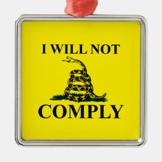 Say NO to Communism! Silver-Colored Square Decoration