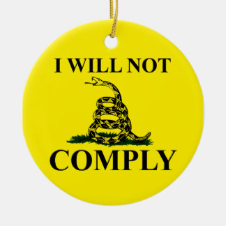 Say NO to Communism! Double-Sided Ceramic Round Christmas Ornament