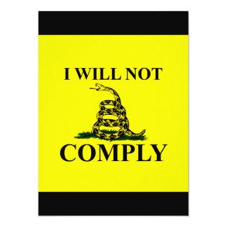 "Say NO to Communism! 5.5"" X 7.5"" Invitation Card"