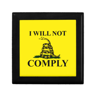 Say NO to Communism Jewelry Boxes