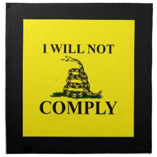 Say NO to Communism! Printed Napkin