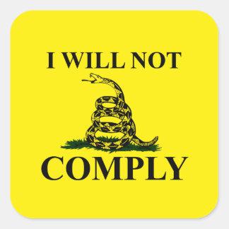 Say NO to Communism! Square Sticker